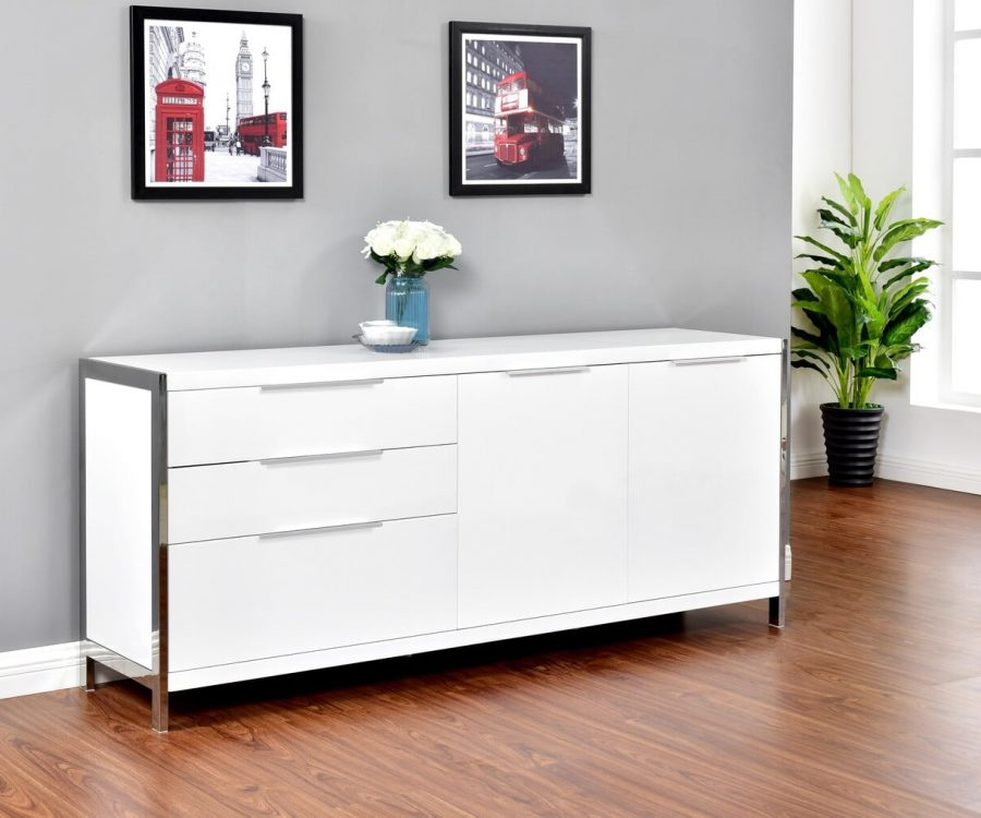 |Cabinet Lined with Stainless Steel Frame. 2 Colors to Choose: High Gloss White or High Gloss Dark grey||||