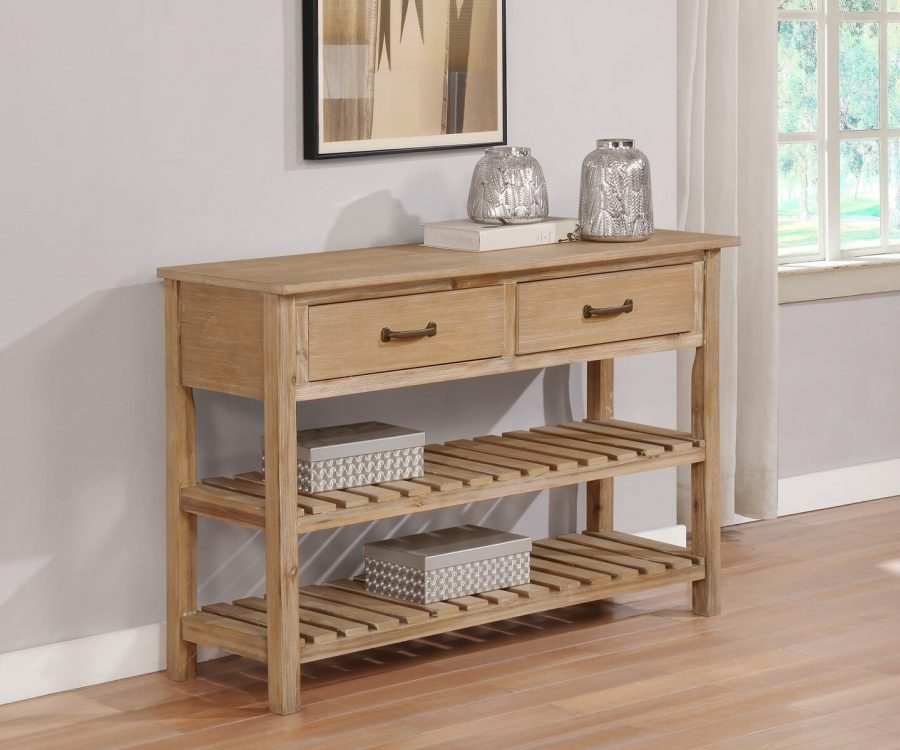 |Wood Server with 2 Drawers and 2 bottom shelves. Available in grey|Beige|
