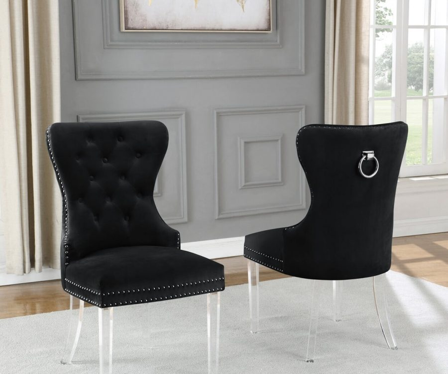 |Velvet Tufted Side Chair **Set of 2**|