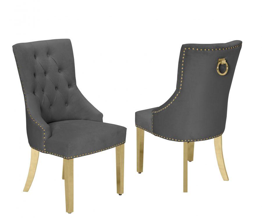 |Tufted Velvet Upholstered Side Chairs|