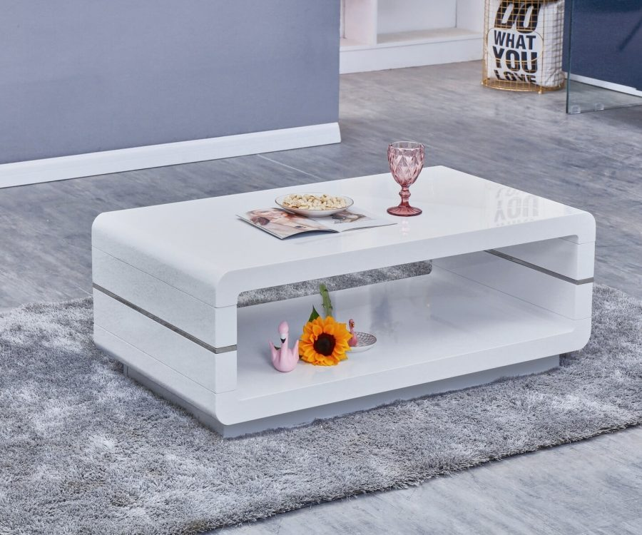 |High Gloss Lacquer Coffee Table (Available in White and grey)|