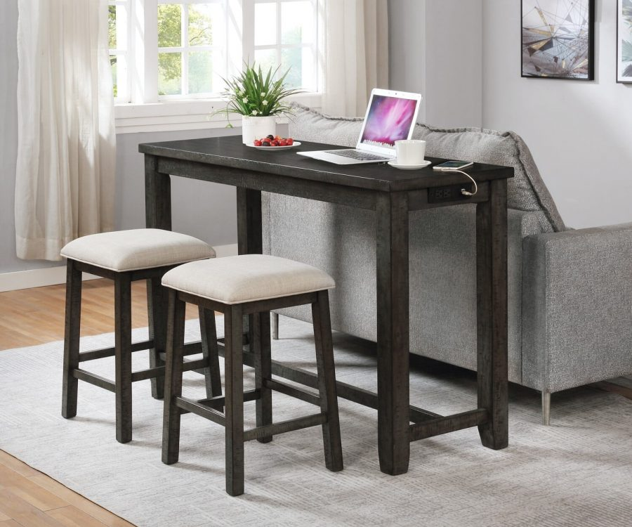 |Counter Height Desk with Stools||