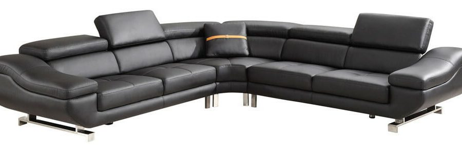 |3 PC Bonded leather sectional with pillow included and three colors to Choose: orange