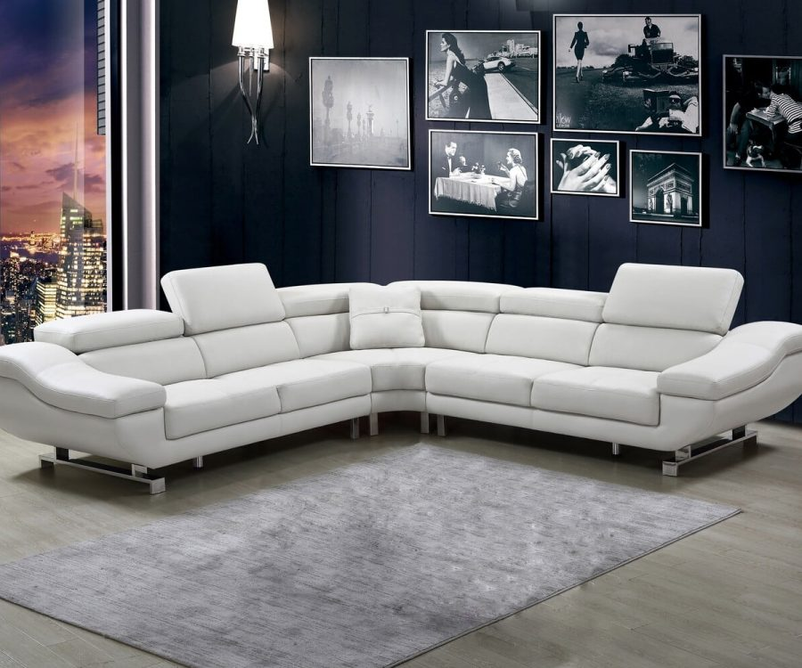 |3 PC Leath-aire sectional with pillow included and three colors to Choose: orange