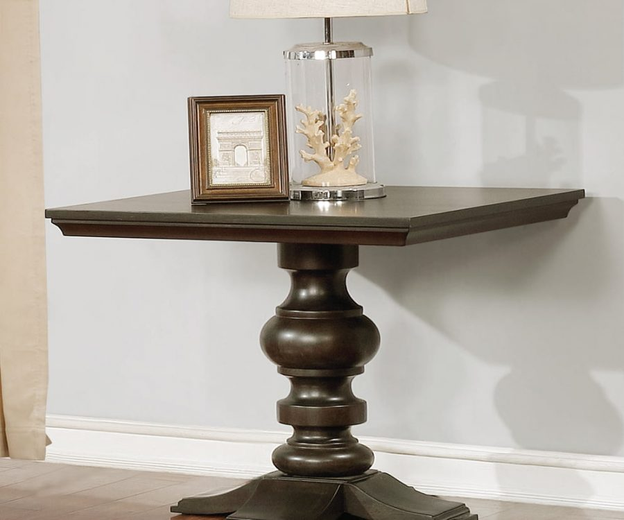  End Table in Cappuccino Wood Finish 