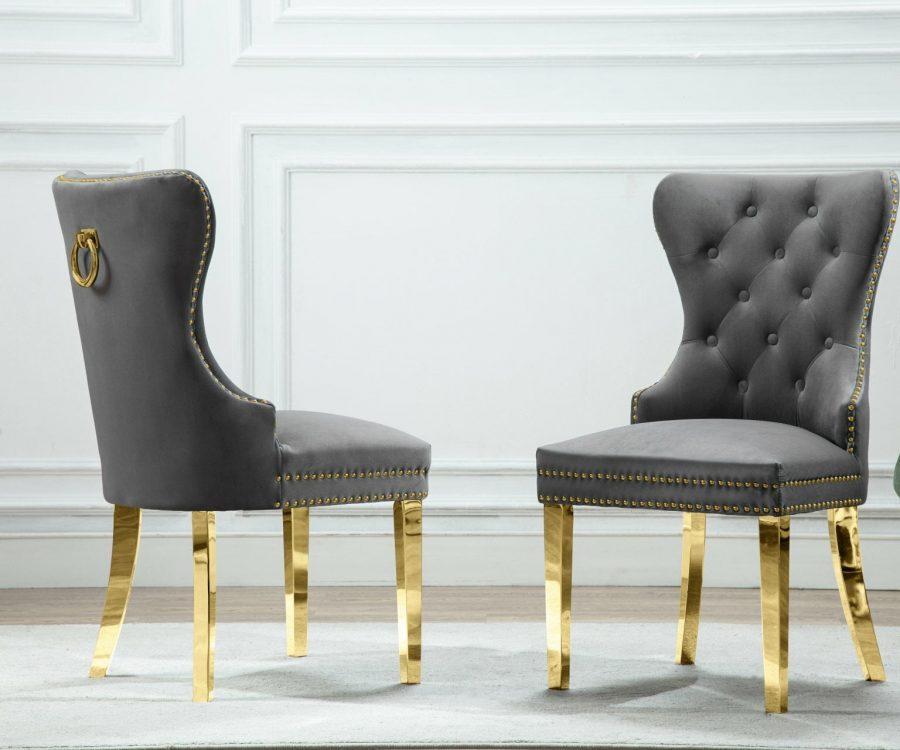 |Velvet Tufted Side Chair **Set of 2**