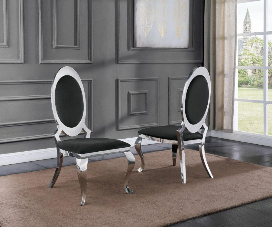 |Velvet Side Chair Set of 2