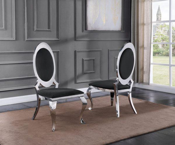 Velvet Side Chair Set of 2