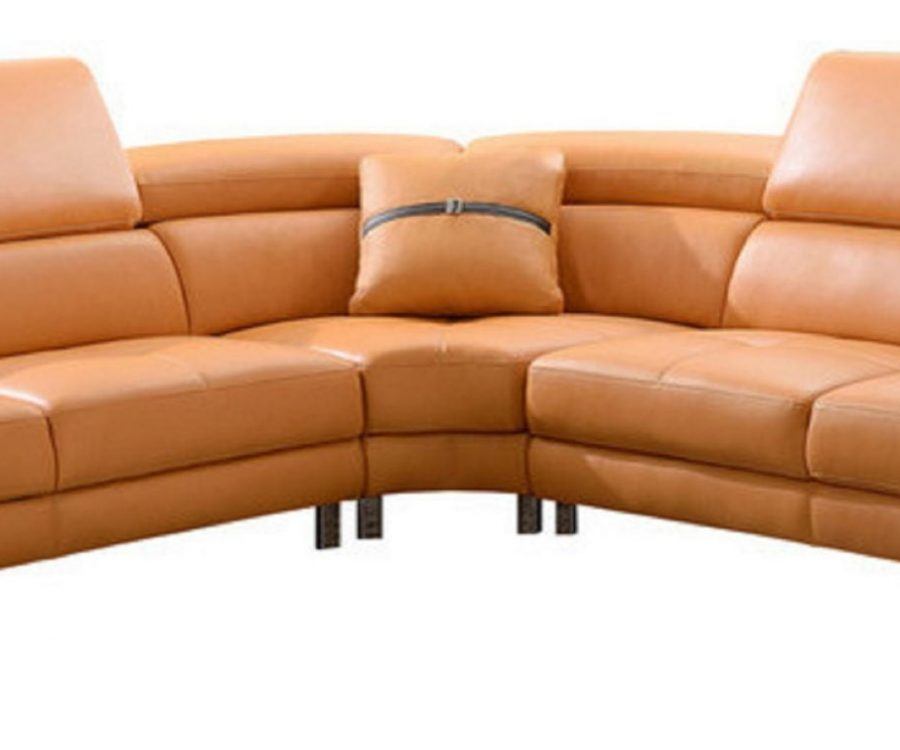 3 PC Bonded leather sectional with pillow included and three colors to Choose: orange