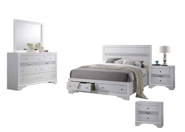 Catherine 5-Piece Bedroom Set with Two Nightstands - Full
