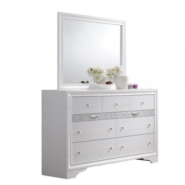 3 Smaller Drawers|Dresser Mirror Set: Dresser with 4 Big Drawers