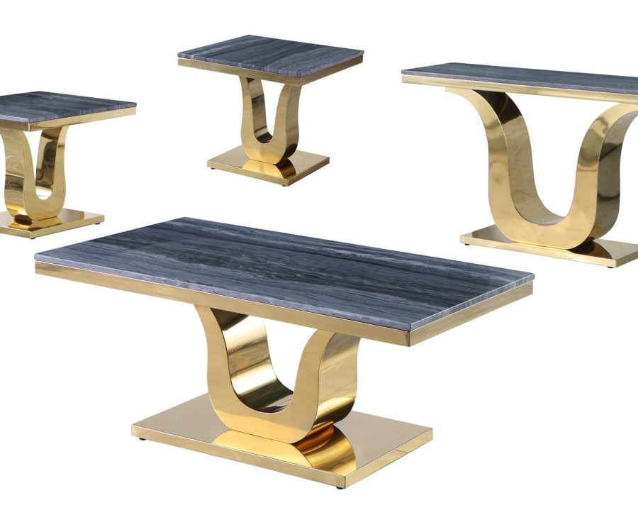 Marble Coffee Table Set: Coffee Table
