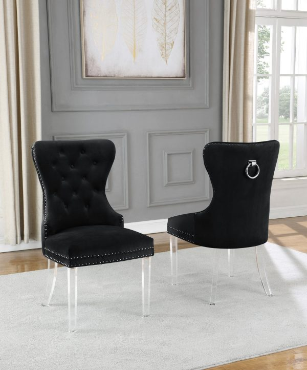 Velvet Tufted Side Chair **Set of 2**