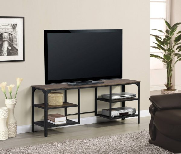 Wooden TV Stand with Metal Frame