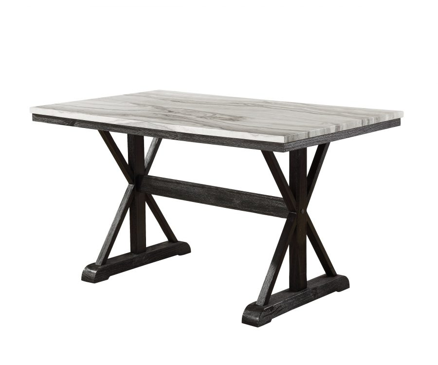 4 Chairs & 1 Bench in Dark Grey