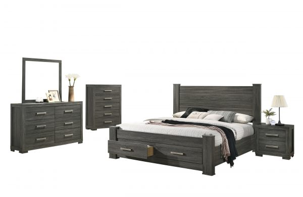 Lisa 5 Piece Bedroom Set with Chest