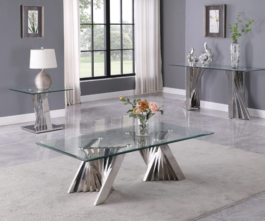 Glass Coffee Table Sets: Coffee Table End Table