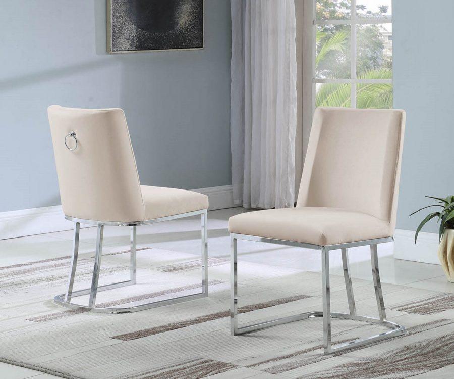 Velvet Upholstered Side Chair