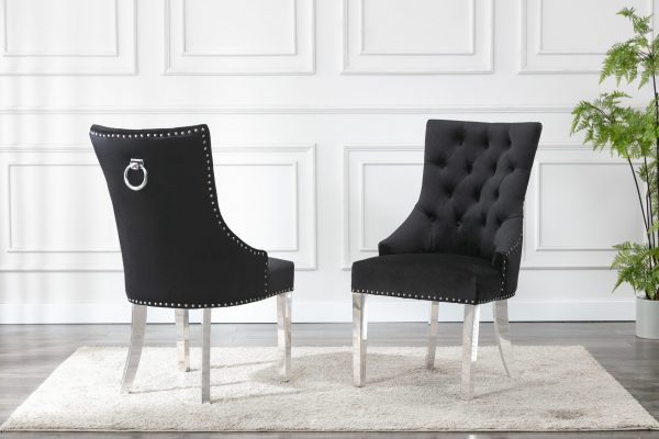 Tufted Velvet Upholstered Side Chairs