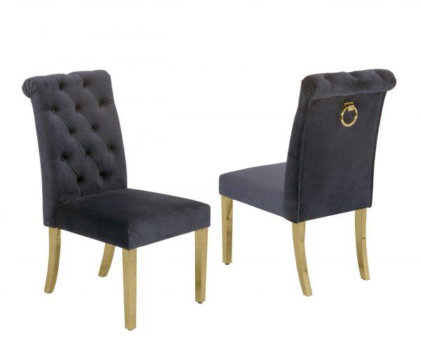 |Tufted Velvet Upholstered Side Chairs