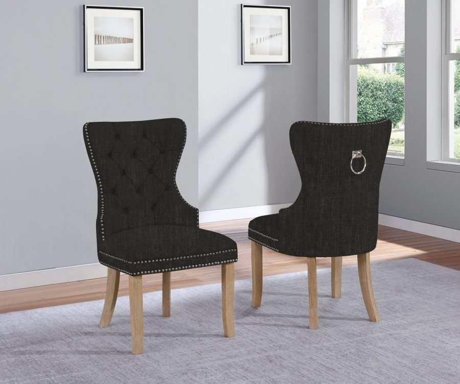 |Linen Tufted Side Chair **Set of 2**