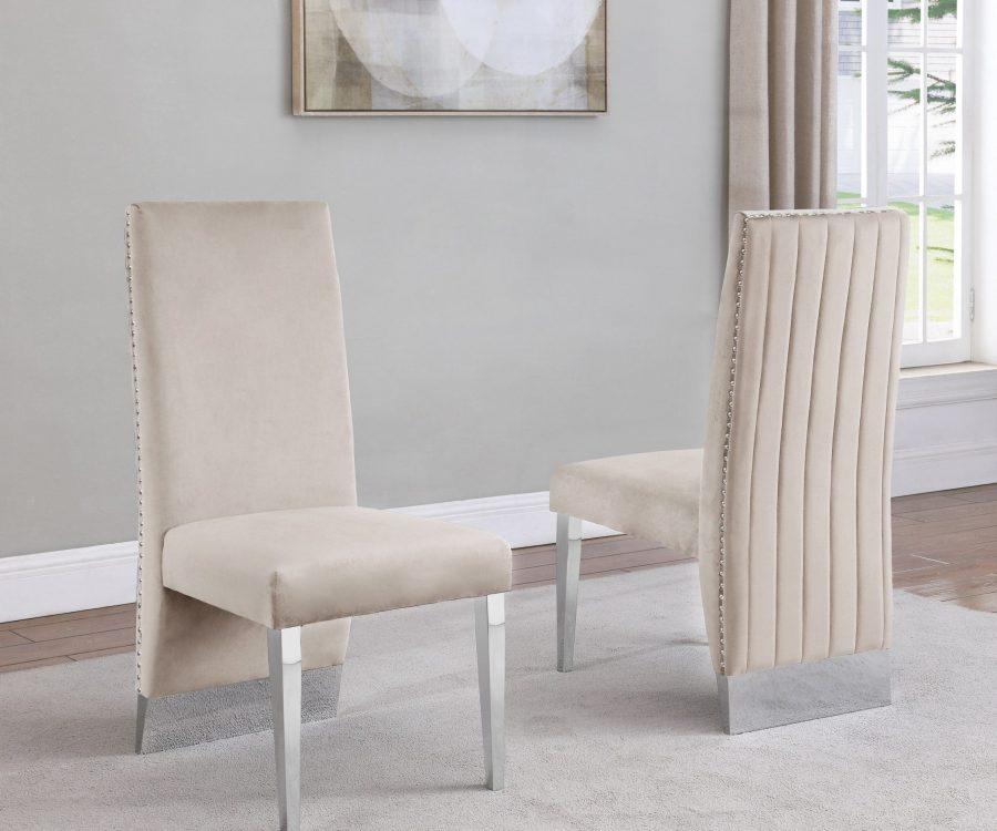 Tufted Velvet Upholstered Dining Chair