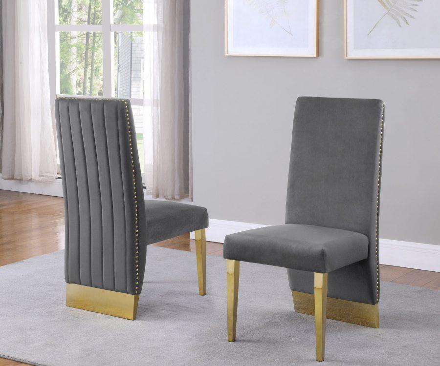 Tufted Velvet Upholstered Side Chair