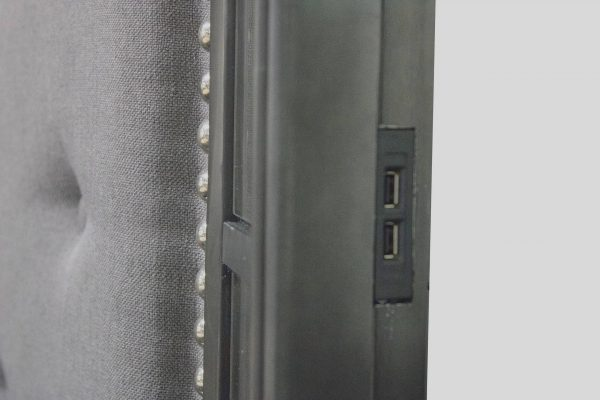  Panel Bed With Tufted Buttons and 2 USB Slots