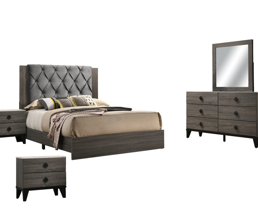 Madelyn 5 Piece Bedroom Set with extra Nightstand