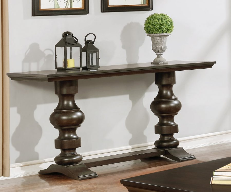 Console Table in Cappuccino Wood Finish|