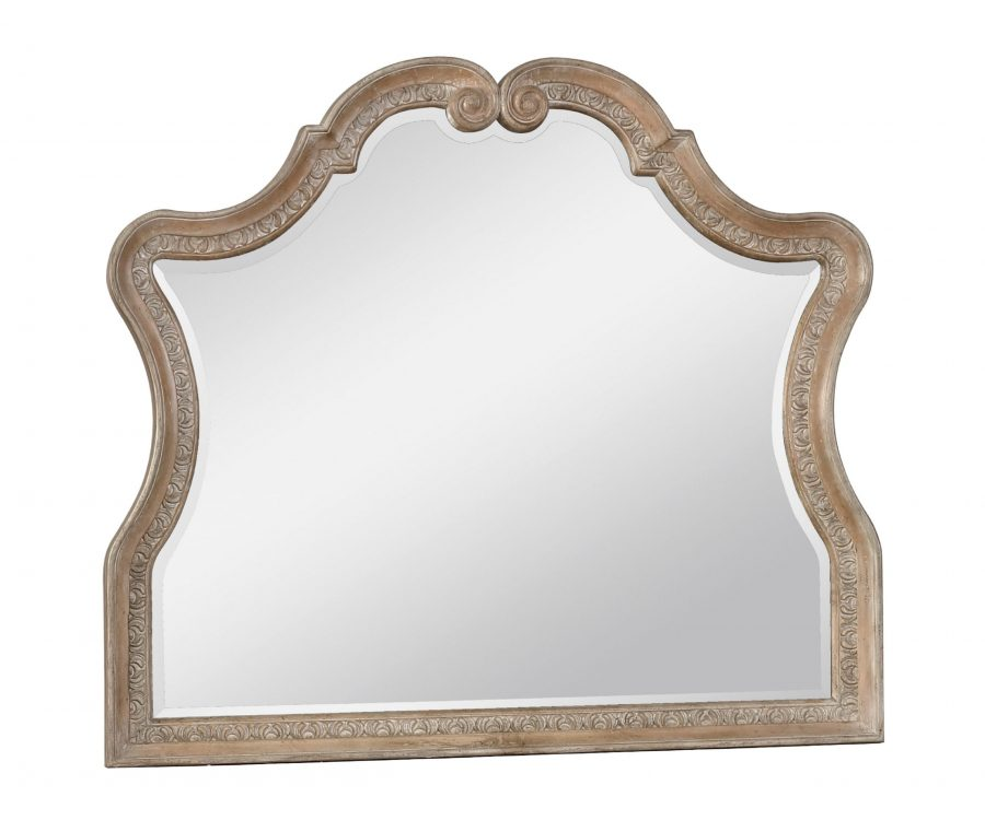   Dresser Mirror Set with 9 Drawers and 1 Cabinet with An Antique Mirror Finish 