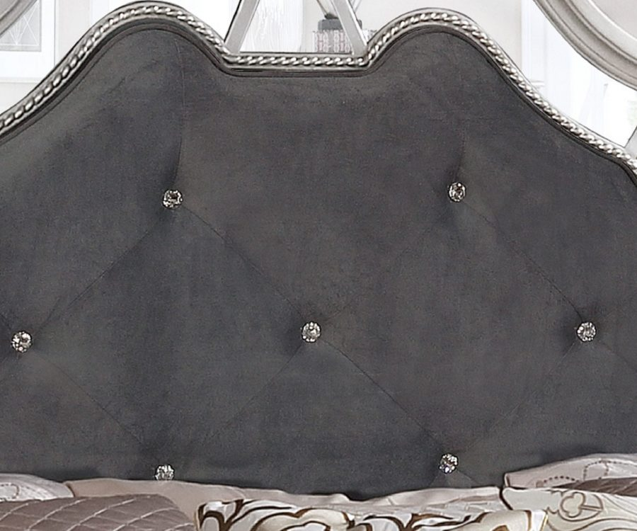 Bed Posts||Panel Bed with Tufted Buttons