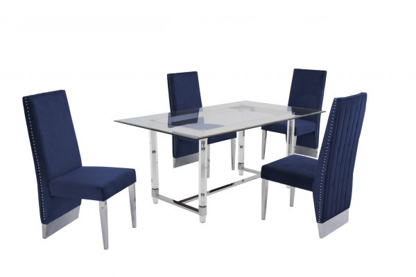 Table with Acrylic Legs and Trestle