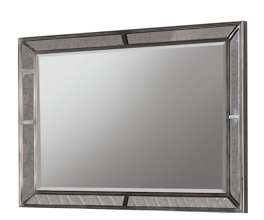 |||Dresser Mirror Set: Dresser with 7 Drawers and Mirror with Mirror Panel Border
