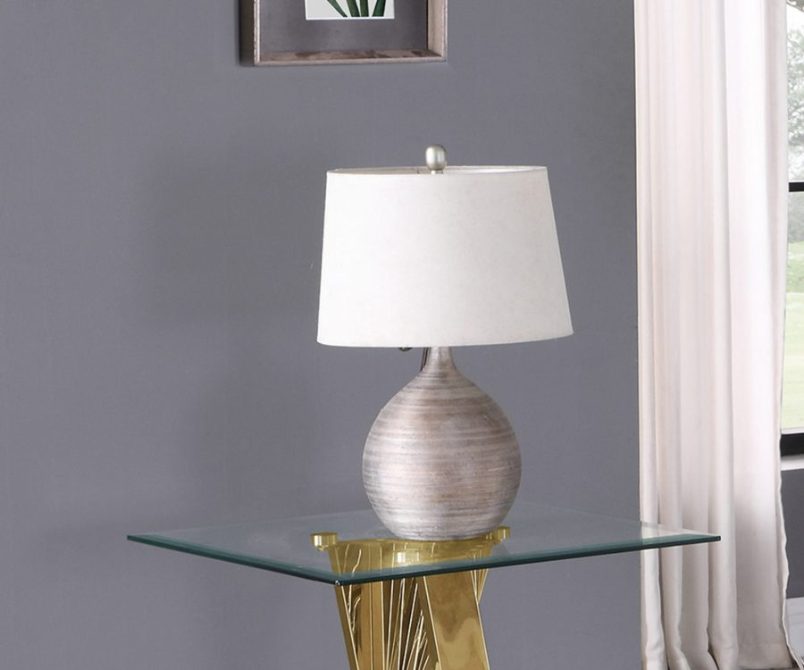 Glass End Table with Stainless Steel Gold Base