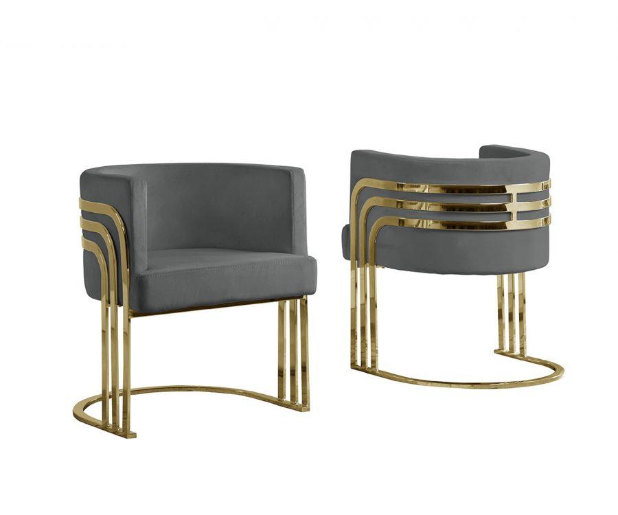 Velvet Barrel Chair