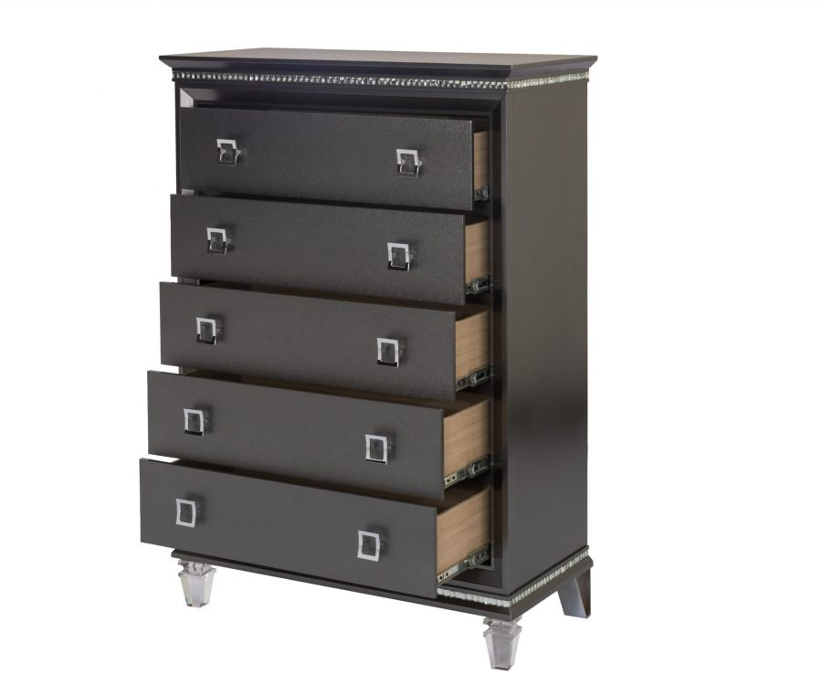 |||Chest with 5 Drawers and Acrylic Legs