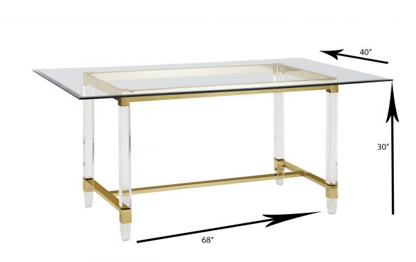 Acrylic Feet with Stainless Steel Gold Trestle