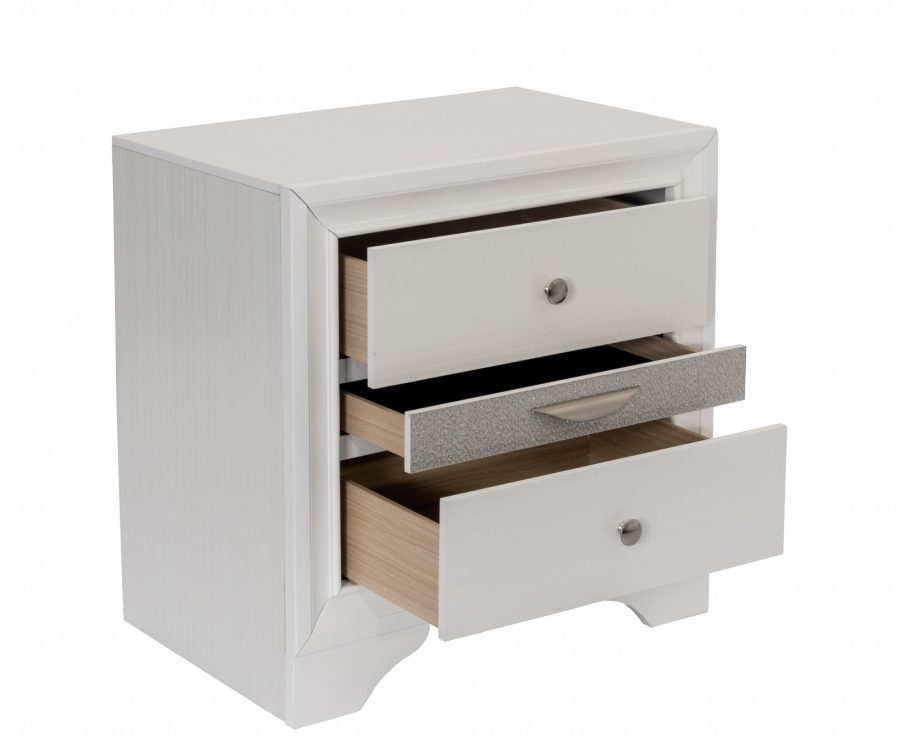 ||Nightstand with 2 Drawers and 1 Jewelry Drawer