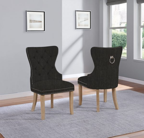 Linen Tufted Side Chair **Set of 2**
