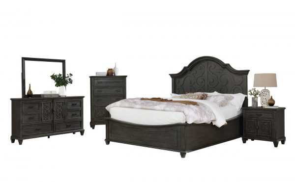 Panel 5 Piece Bedroom Set with Chest